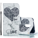 Heart + Marble Pattern Horizontal Flip Leather Case for Xiaomi Pocophone F1, with Holder & Card Slots & Wallet & Lanyard (Black)