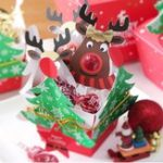 Original 25 PCS Cute Reindeer Lollipop Paper Card Decorations Christmas Candy Gift Decor