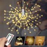 Original Battery Powered 150/180LED 8 Modes DIY Firework String Christmas Light with 13 Keys Remote Control