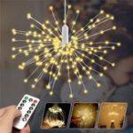 Original Battery Powered 150/180LED 8 Modes DIY Firework String Christmas Light with 13 Keys Remote Control