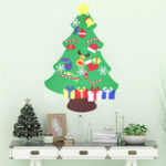 Original 100CM DIY Christmas Deluxe Felt Tree Wall Hanging Toddler Child Preschool Craft Decorations
