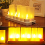 Original 12PCS LED Rechargeable Candle Lamps Flameless Warm Tea Light Decoration