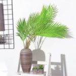 Original 6/9 Branches Green Palm Leaves Plastic Fake Plant Artificial Leaf Home Adornment Decorations