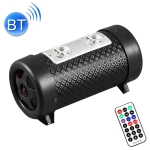 4 inch Round Shape Stereo Motorcycle / Car / Household Subwoofer, Built-in Bluetooth, Support TF Card & U Disk Reader, with Remote Control(Black)