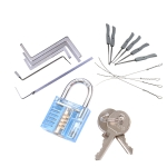 3 In 1 Set Locksmith Tools Practice Transparent Lock Kit, Random Color Delivery