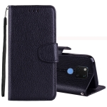 Litchi Texture Horizontal Flip Leather Case for Huawei Mate 20 , with Holder & Card Slots & Wallet & Lanyard (Black)