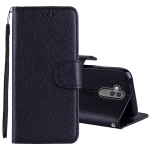 Litchi Texture Horizontal Flip Leather Case for Huawei Mate 20 Lite , with Holder & Card Slots & Wallet & Lanyard (Black)