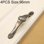 4 PCS 2806 Green Bronze Cabinet Wardrobe Door Drawer Vintage Zinc Alloy Solid Handle, Hole Distance: 96mm