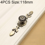 4 PCS 2809 Green Bronze Cabinet Wardrobe Door Drawer Vintage Zinc Alloy Solid Handle, Size: 118mm