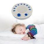 High Sound Quality Timing Music Sleep Aid Device White Noise Machine  Music Player with Night Light Preset 5(White)