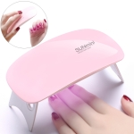 SUN mini 2 6W UV + LED USB Nail Lamp Fingernail Gel Curing Dryer (Pink)