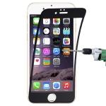 0.1mm 9H Full Screen Flexible Fiber Tempered Glass Film for iPhone 6 Plus & 6s Plus(Black)