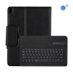 Detachable Bluetooth Keyboard + Litchi Texture Horizontal Flip Leather Case with Holder for iPad Pro 11 inch (2018)(Black)
