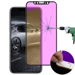 Ultra thin 9H 3D Anti Blue-ray Full Screen Carbon Fiber Tempered Glass Film for  iPhone X & XS (Black)