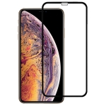 9H 2.5D Ultrathin Silk-screen Carbon Fiber Full Screen Protector Film for iPhone XS Max(Black)