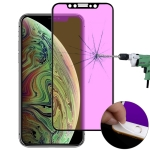 Ultra thin 9H 3D Anti Blue-ray Full Screen Carbon Fiber Tempered Glass Film for  iPhone XS Max(Black)