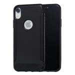 Carbon Fiber Anti-slip TPU Protective Case for iPhone XR(Black)