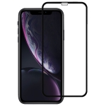 9H 2.5D Ultrathin Silk-screen Carbon Fiber Full Screen Protector Film for iPhone XR(Black)