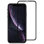 9H 2.5D Ultrathin Silk-screen Carbon Fiber Full Screen Protector Film for iPhone XR(Black)