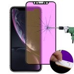 Ultra thin 9H 3D Anti Blue-ray Full Screen Carbon Fiber Tempered Glass Film for  iPhone XR (Black)