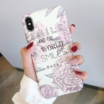 Peony Pattern Luminous PC Protective Case for iPhone XS / X