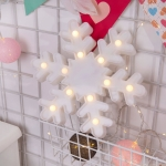 Creative Snowflake Shape Warm White LED Decoration Light