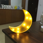 Creative Moon Shape Warm White LED Decoration Light