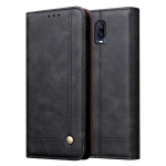 Casual Style Retro Crazy Horse Texture Horizontal Flip Leather Case for OnePlus 6T, with Card Slots & Holder & Wallet (Black)