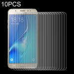 10 PCS 0.26mm 9H+ Surface Hardness 2.5D Explosion-proof Tempered Glass Film for Galaxy J7 / J700