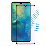 ENKAY Hat-Prince 0.2mm 9H Surface Hardness 3D Anti Blu-ray Full Screen Carbon Fiber Soft Edges Tempered Glass Screen Film for Huawei Mate 20(Black)