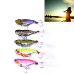 5 PCS 5.5cm/11g Luya Metal VIB Fishing Lures Bait Bionic Kit with Plastic Box