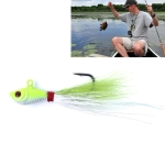 7cm/25g Tied Wire Fishing Artificial Lures Lead Fish Treble Hooks Baits(Green)