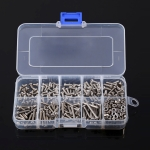 340 PCS DIN7985 Cross Screws Bolts Nut M3 Stainless Steel Pan Head Screw Set