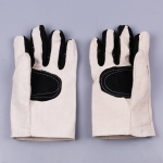 Labor Supplies Wear-Resistant Protection Gloves Thickened Encryption Canvas Gloves (Black)