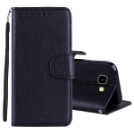 Litchi Texture Horizontal Flip Leather Case for Galaxy J4+, with Holder & Card Slots & Wallet & Lanyard (Black)