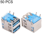 50 PCS 90 Degrees USB 3.0 Receptacle Connector in Double Dip Type