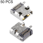 50 PCS 19 Pin Micro HDMI Female Socket D Type with Sticker SMT + DIP Foot