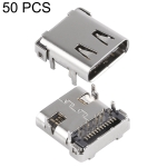 50 PCS USB-C / Type-C Female Host 24 Pin Terminal 12 Vertical 12 Attached Connector