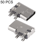 50 PCS USB-C / Type-C Female 14 Pin Side Plug Socket Connector