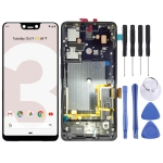 LCD Screen and Digitizer Full Assembly with Frame for Google Pixel 3 XL (Black)