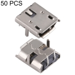 50 PCS Micro USB 2P/F 90 Degrees Socket Connector, H Type
