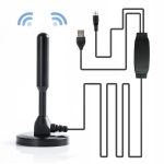 TY27 50 Miles Range 25dBi High Gain Amplified Digital HDTV Indoor TV Antenna with 5m Coaxial Cable