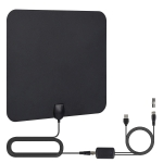 TY33 50 Miles Range 28dBi High Gain Amplified Digital HDTV Indoor TV Antenna with 4m Coaxial Cable & LED Light