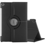 Litchi Texture Horizontal Flip 360 Degrees Rotation Leather Case for Huawei MediaPad T5 10.1, with Holder (Black)