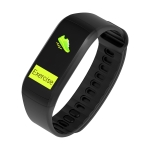 KR02 0.96 inch TFT Color Screen GPS Tracking Smart Bracelet IP68 Waterproof,Support Heart Rate Monitoring /Pedometer /Multi-sports Modes /Information Push (Tarnish)