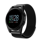 R13 0.95 inch OLED Color Screen Smart Bracelet IP67 Waterproof, Metal Watchband,Support Call Reminder /Heart Rate Monitoring /Blood Pressure Monitoring /Sedentary Reminder /Sleep Monitoring(Black)