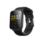 Q9 1.3 inch TFT Color Screen Smart Bracelet IP67 Waterproof,Support Call Reminder /Heart Rate Monitoring /Blood Pressure Monitoring /Sedentary Reminder /Sleep Monitoring(Black)