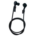 Bluetooth Earphone Silicone Anti-lost Rope for Huawei Wireless Earphone (Black)