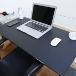 Multifunction Business PVC Leather Mouse Pad Keyboard Pad Table Mat Computer Desk Mat, Size: 60 x 30cm (Black)