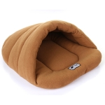 Slipper Shape Charcoal Wool Warm Thicken Pet Dogs Cats House Size: M, 48×58×26cm (Coffee)